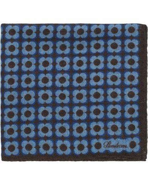 Priser på Stenströms Wool Printed Medallion Pocket Square Brown
