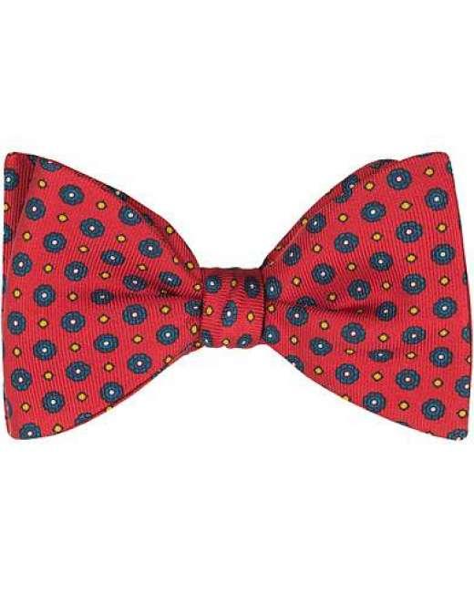 Priser på Turnbull & Asser Silk Gatsby Flower Bowtie Red