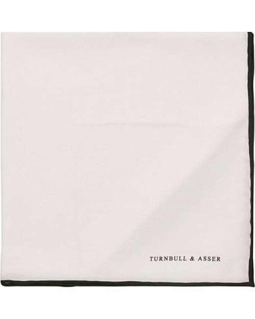 Priser på Turnbull & Asser Silk Pocket Square White