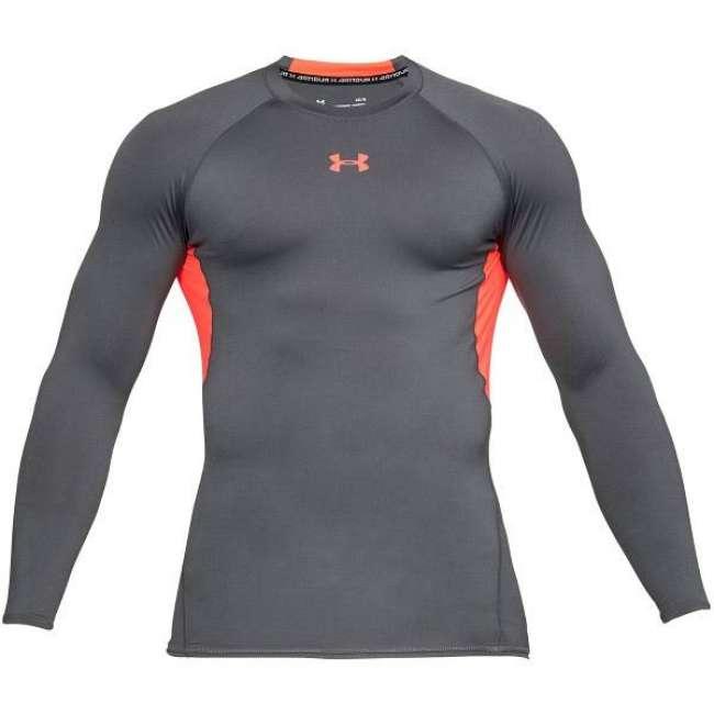 Priser på Under Armour HeatGear LS Compression Shirt - Red/Grey * Kampagne *