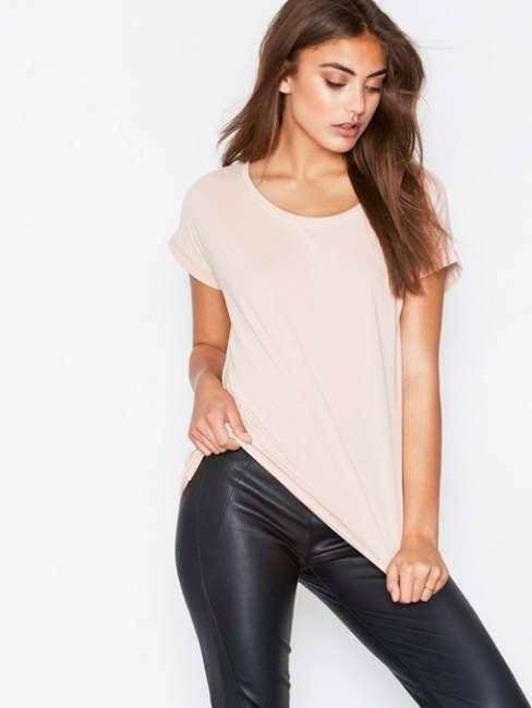 Priser på Vila Vidreamers Pure T-Shirt-Noos T-shirt Lys Rosa