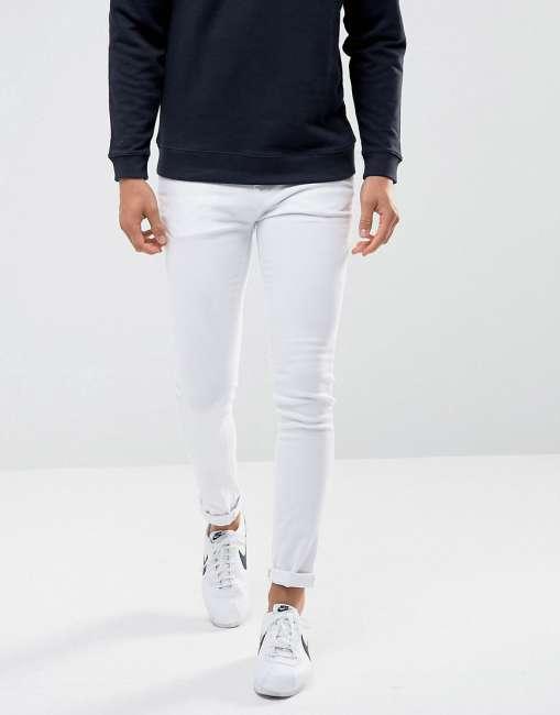 Priser på Waven Super Skinny Spray on Jeans in White - White